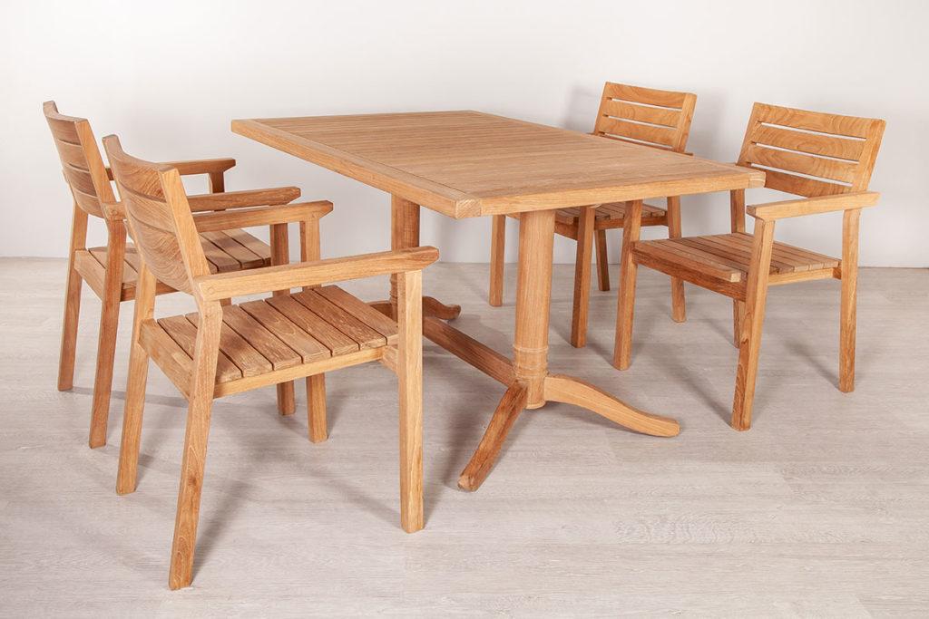 Esstisch und Sessel, hochwertige Gartenmöbel & Balkonmöbel