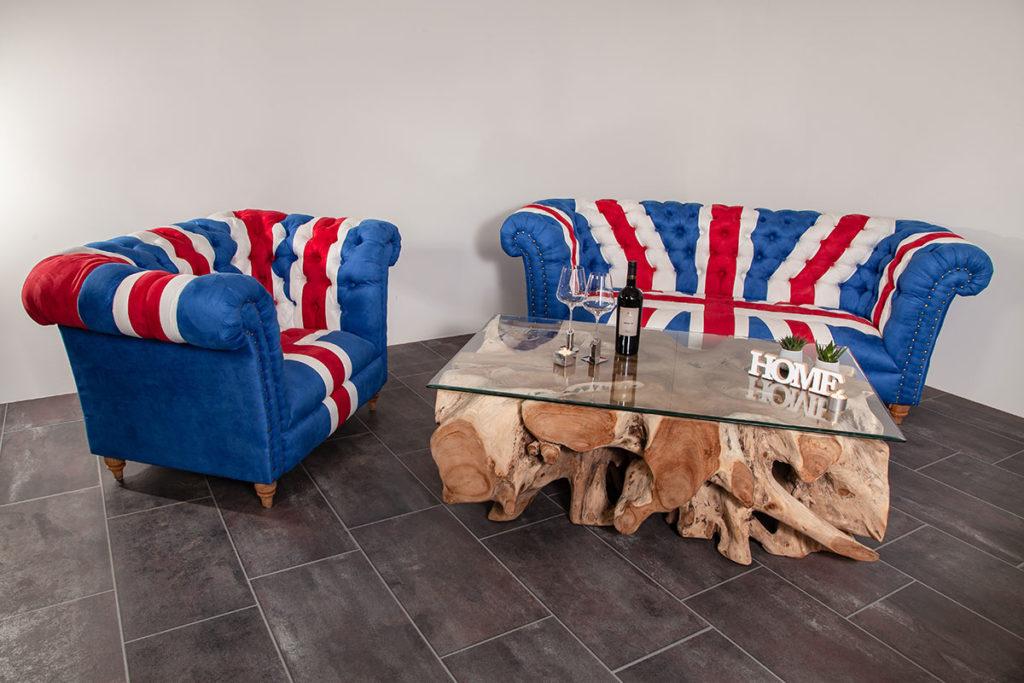 Couch & Couchtisch aus Wurzelholz, Designermöbel, Wurzelholzmöbel