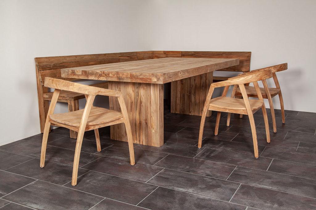 Eckbank & Esstisch, Designermöbel, nachhaltige Möbel