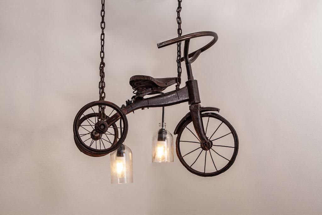 Lampe, Designermöbel, Recyclingmöbel
