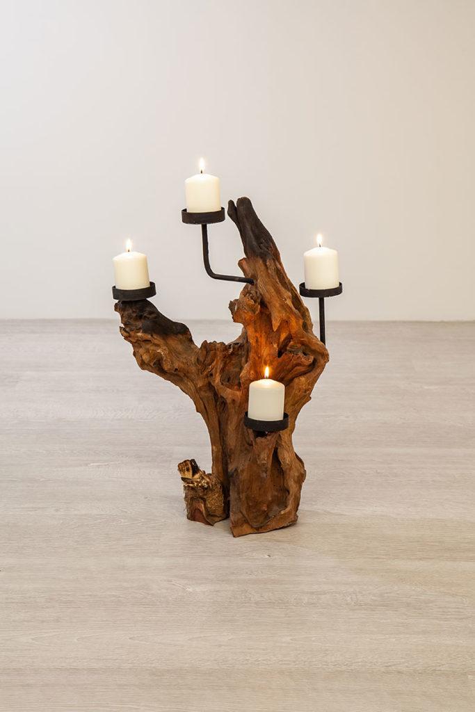 Kerzenständern - hochwertige Wurzelholz-Möbel