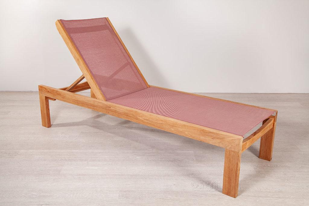 Sonnenliege, hochwertige Gartenmöbel aus Massiv-Holz