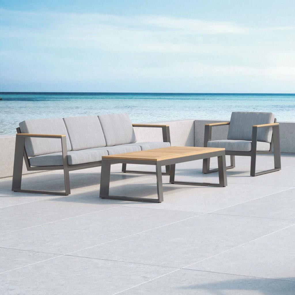 Lounge, hochwertige Gartenmöbel aus Massiv-Holz