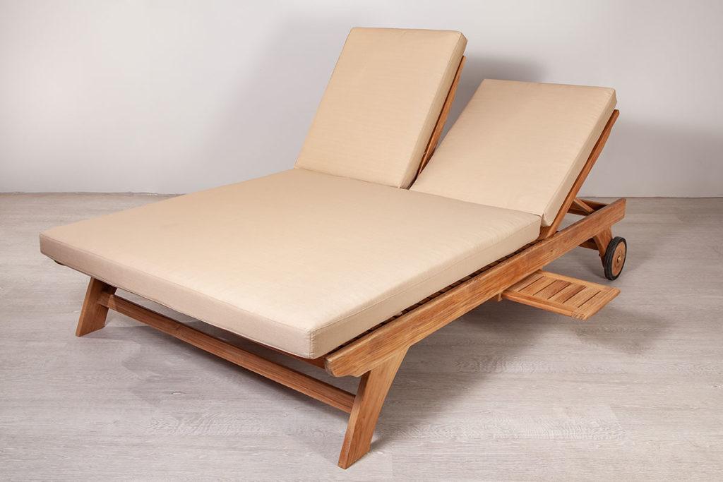 Doppelliege, hochwertige Gartenmöbel aus Massiv-Holz