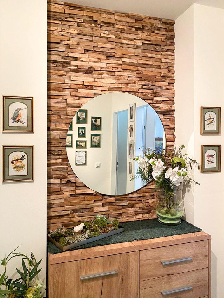 Holzwand Designer Einrichtung 1